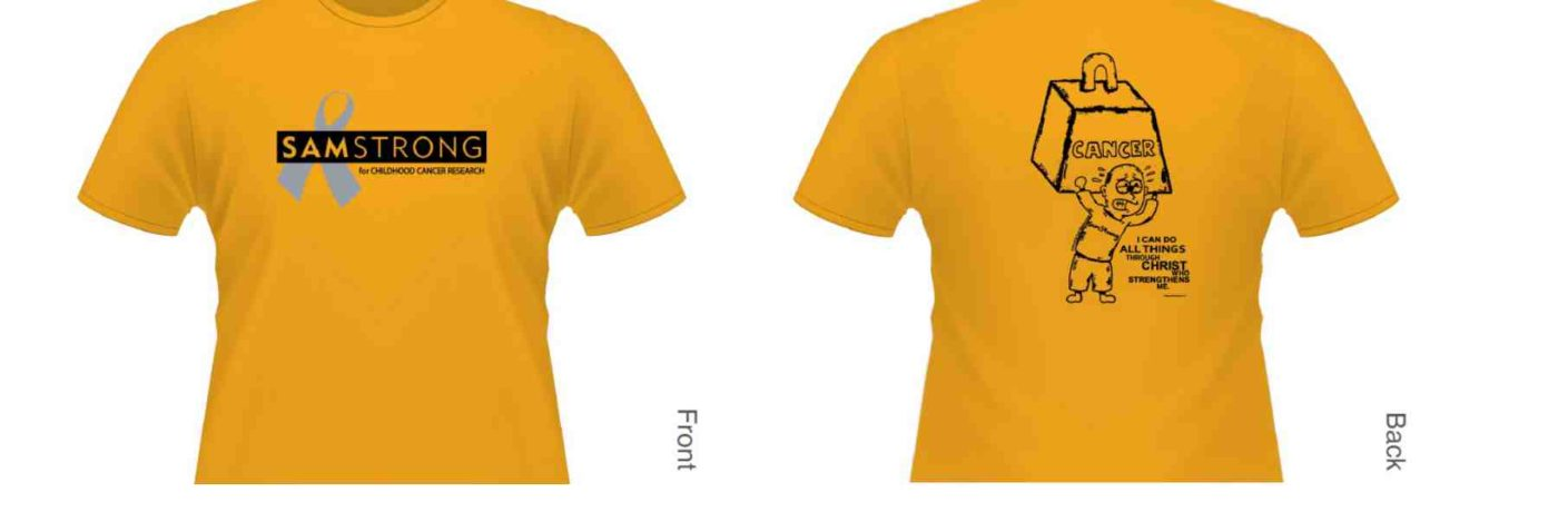 Click here to order SamStrong T-Shirts and other items